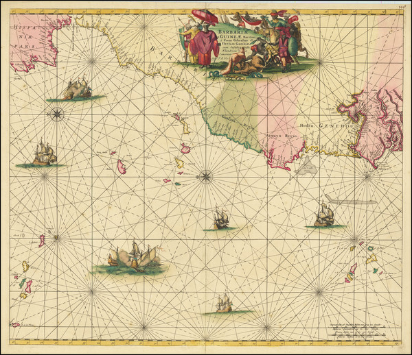 87-North Africa and West Africa Map By Frederick De Wit