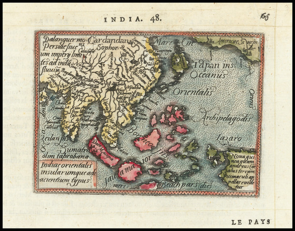 21-Japan, India, Southeast Asia, Philippines, Indonesia, Malaysia and Australia Map By Abraham Ort