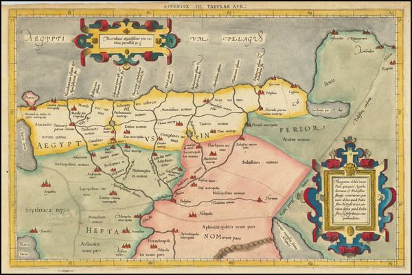 71-Egypt Map By  Gerard Mercator
