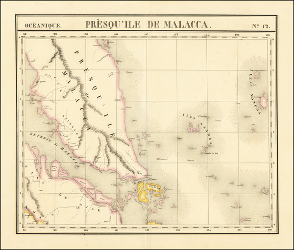 34-Singapore, Indonesia and Malaysia Map By Philippe Marie Vandermaelen