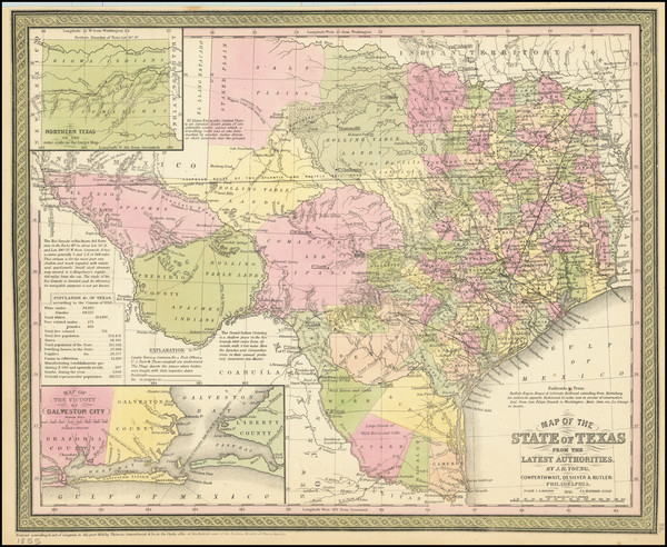 3-Texas Map By Cowperthwait, Desilver & Butler