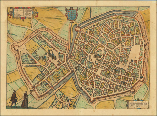 97-Other French Cities and Nord et Nord-Est Map By Georg Braun  &  Frans Hogenberg