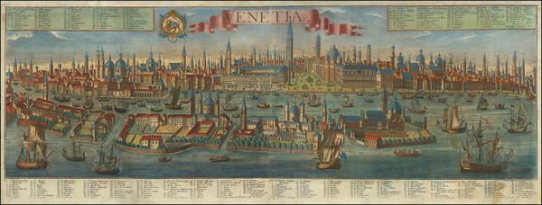86-Venice Map By Georg Balthasar Probst