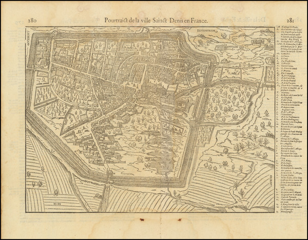 98-Paris and Île-de-France and Other French Cities Map By Francois De Belleforest