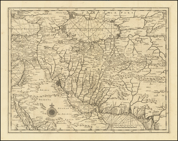 5-Persia & Iraq Map By Francois Valentijn