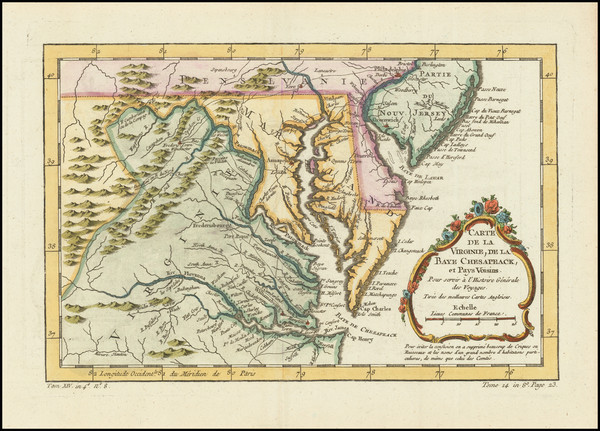 19-New Jersey, Maryland, Delaware and Virginia Map By
