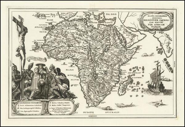 43-Africa Map By Heinrich Scherer