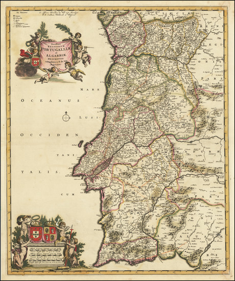 4-Portugal Map By Frederick De Wit