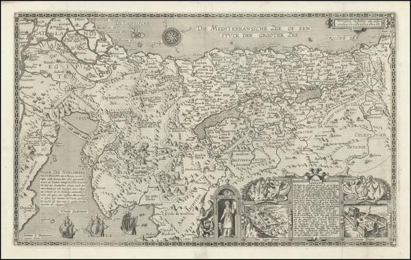 67-Holy Land Map By Joannes Van Deutecum