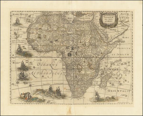 51-Africa Map By Henricus Hondius / Jan Jansson