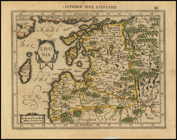55-Baltic Countries Map By Gerhard Mercator