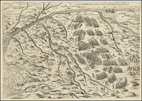 70-France Map By Anonymous / Lafreri School