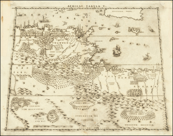 54-Malta and North Africa Map By Livio Sanuto