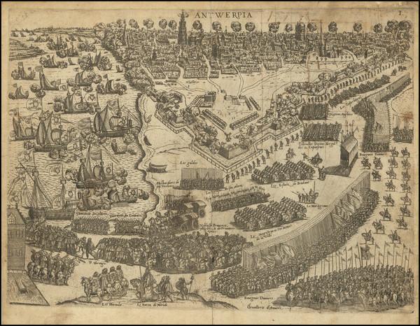 37-Belgium Map By Abraham de Bruyn
