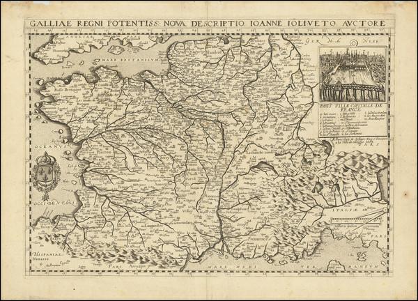 91-France Map By Gerard Jollain
