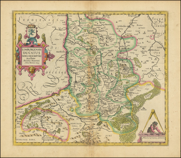 24-Netherlands Map By Henricus Hondius