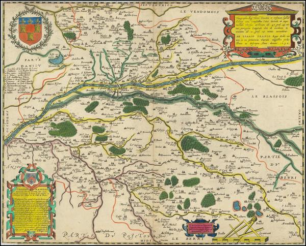 58-France and Centre et Pays de la Loire Map By Maurice Bouguereau