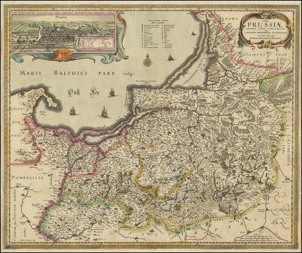 57-Poland Map By Nicolaes Visscher I