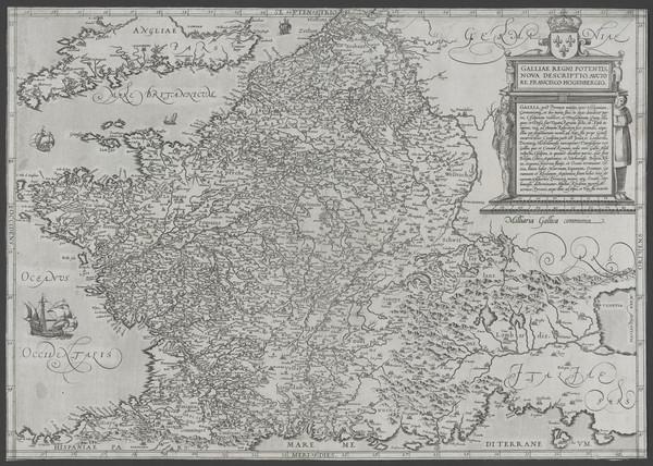 68-France Map By Frans Hogenberg
