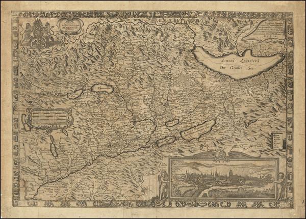 85-Switzerland Map By Joseph Plep