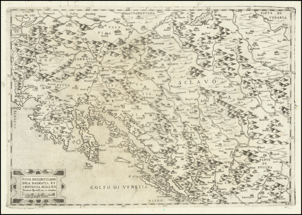 71-Croatia & Slovenia, Bosnia & Herzegovina and Northern Italy Map By Ferrando Bertelli