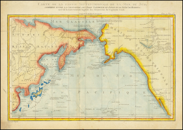 40-Alaska, Hawaii, China, Pacific, Hawaii, Russia in Asia, California and Canada Map By Dupuis