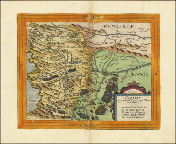 17-Croatia & Slovenia and Bosnia & Herzegovina Map By Cornelis de Jode