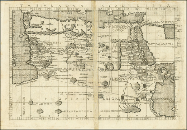 43-Egypt and North Africa Map By Francesco Berlinghieri