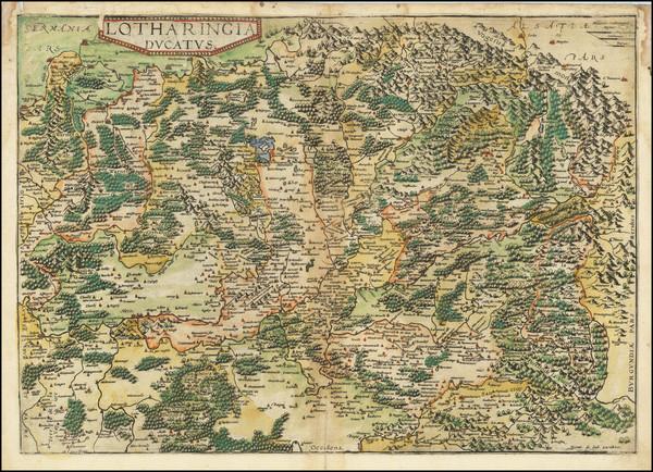 72-Nord et Nord-Est Map By Gerard de Jode
