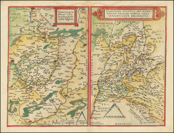 58-Switzerland, Northern Italy, Sud et Alpes Française and Nord et Nord-Est Map By Gerard d