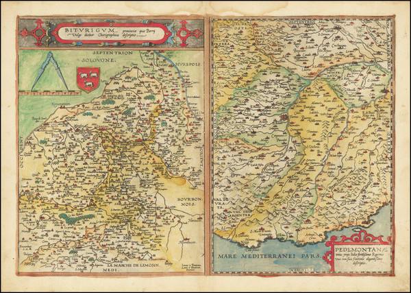 47-France, Northern Italy and Centre et Pays de la Loire Map By Gerard de Jode