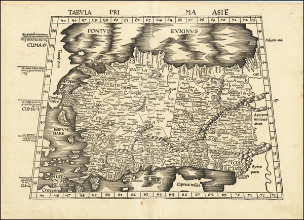 36-Turkey & Asia Minor Map By Martin Waldseemüller