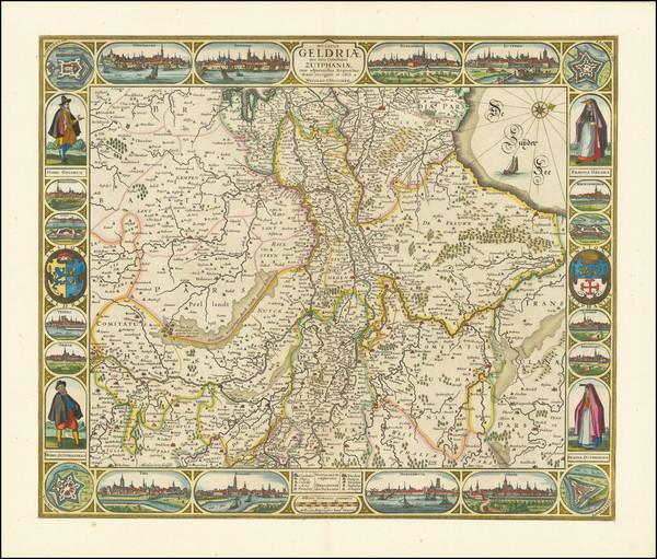 30-Netherlands Map By Claes Janszoon Visscher