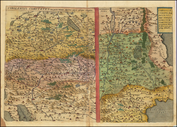 15-Croatia & Slovenia and Northern Italy Map By Gerard de Jode
