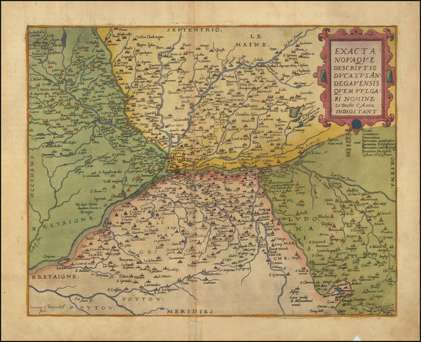 84-Centre et Pays de la Loire Map By Gerard de Jode