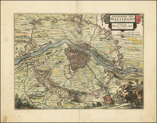 33-Netherlands Map By Claes Janszoon Visscher