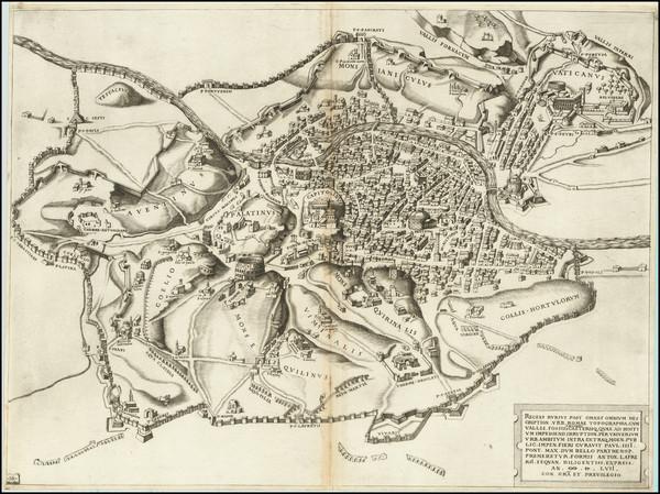 0-Rome Map By Antonio Lafreri / Nicolas Beatrizet