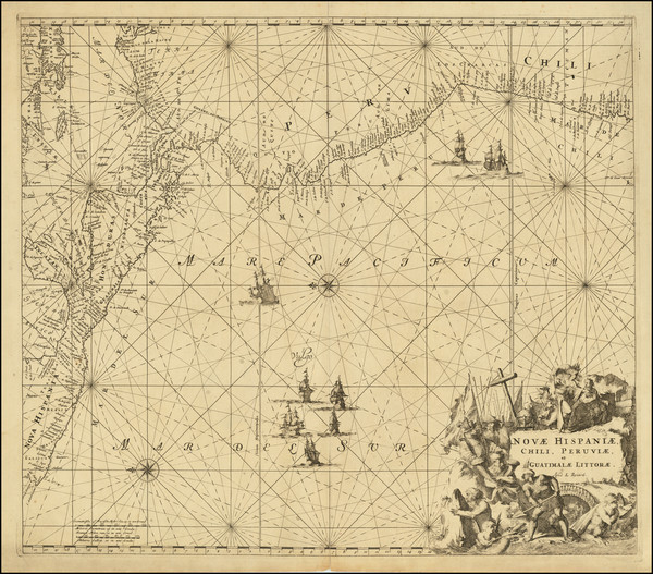 69-Mexico, Central America and South America Map By Louis Renard