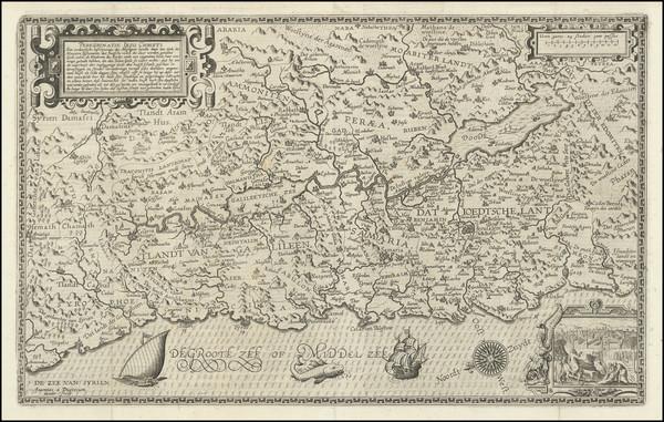 94-Holy Land Map By Joannes Van Deutecum