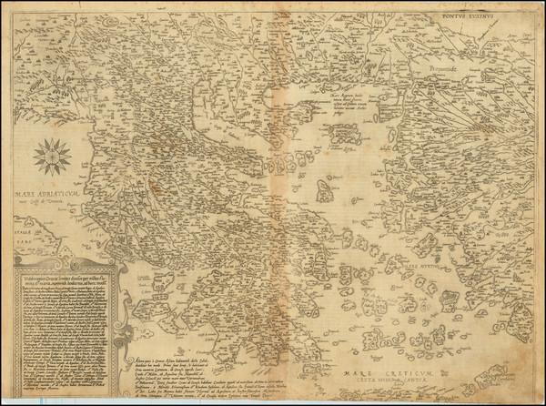 29-Turkey, Turkey & Asia Minor and Greece Map By Cornelis de Jode