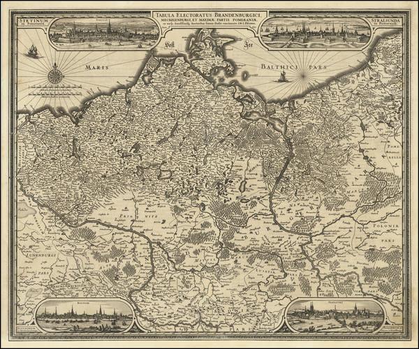 18-Poland and Norddeutschland Map By Claes Janszoon Visscher