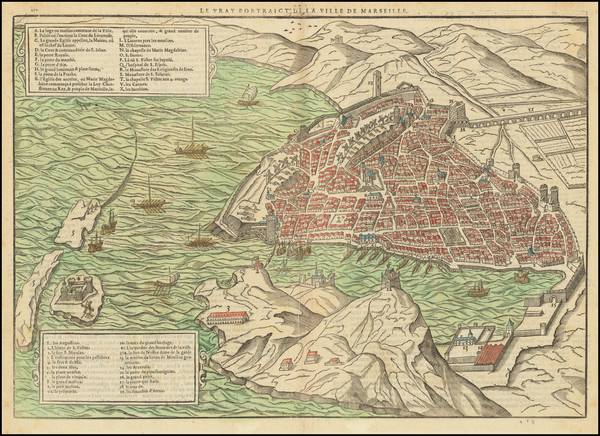 2-Other French Cities and Sud et Alpes Française Map By Francois De Belleforest