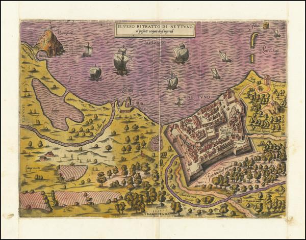 92-Southern Italy Map By Antonio Salamanca / Antonio Lafreri