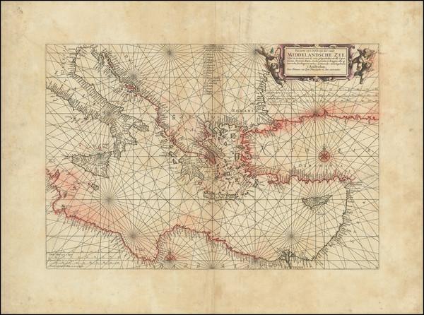 62-Mediterranean Map By Johannes van Loon