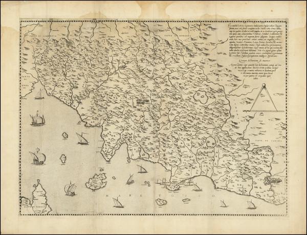 57-Northern Italy Map By Girolamo Bellarmato / Antonio Salamanca