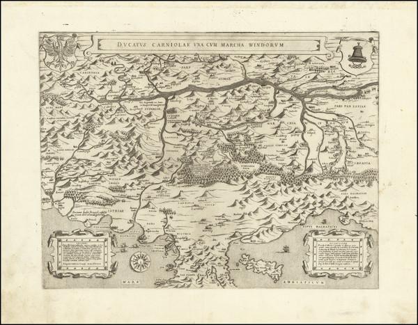 54-Croatia & Slovenia and Northern Italy Map By Bolognini Zaltieri