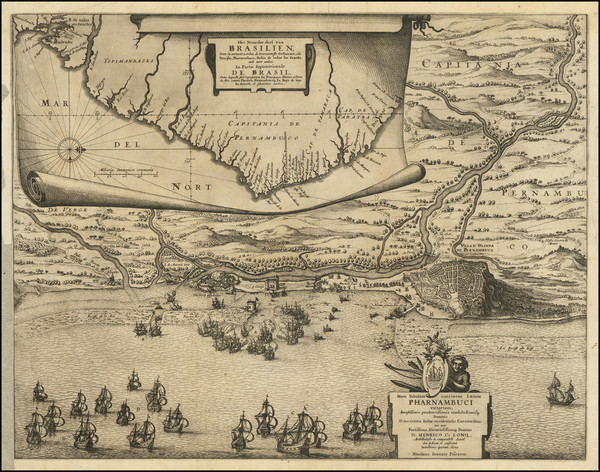 15-Brazil Map By Nicolaes Visscher I