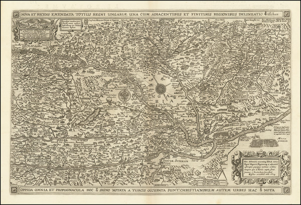 95-Hungary, Romania and Balkans Map By Claes Janszoon Visscher