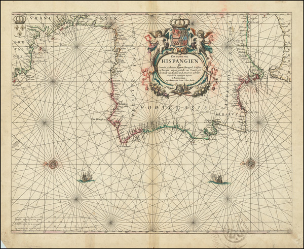 96-Spain and Portugal Map By Johannes van Loon