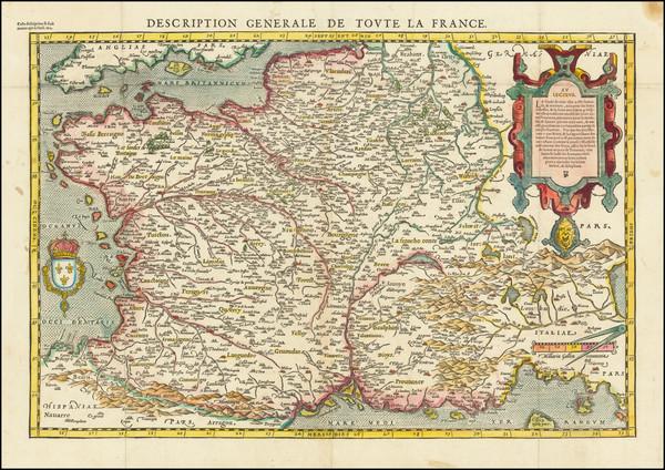 11-France Map By Francois De Belleforest